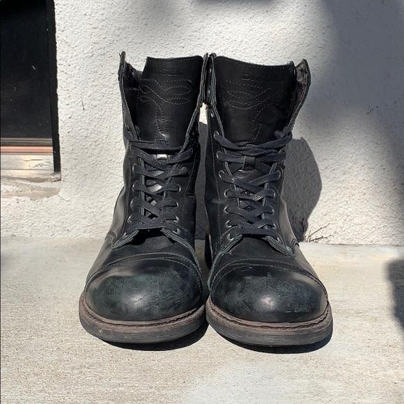 d2dc066a6da Men's Diesel Black Leather Combat Boots (EU 45)